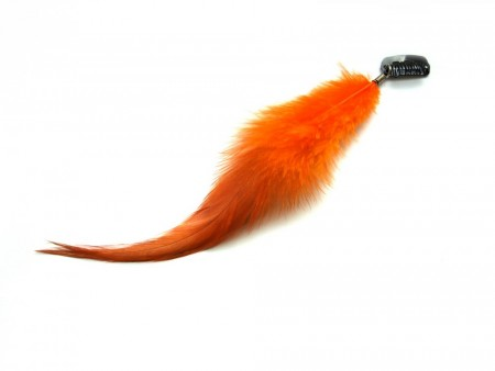 Clip on feather orange